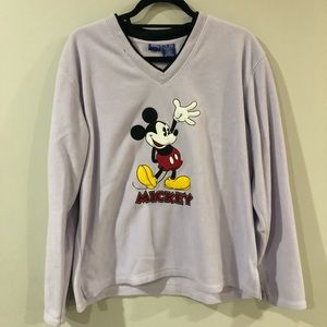 Purple Fleece Mickey Disney Pullover